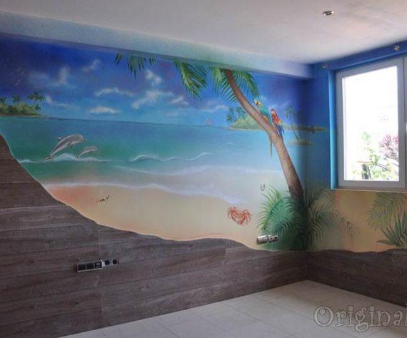 1402421603camera-bucuresti-pictura-murala-peisaj-exotic