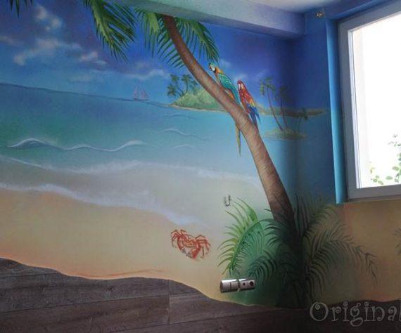 1402421607camera-bucuresti-pictura-murala-peisaj-exotic