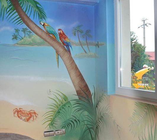 1402421627camera-bucuresti-pictura-murala-peisaj-exotic