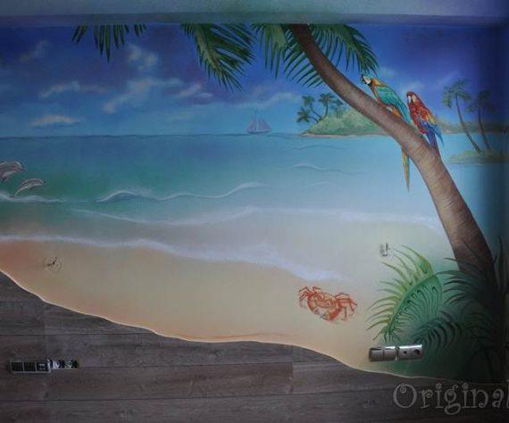 1402421632camera-bucuresti-pictura-murala-peisaj-exotic