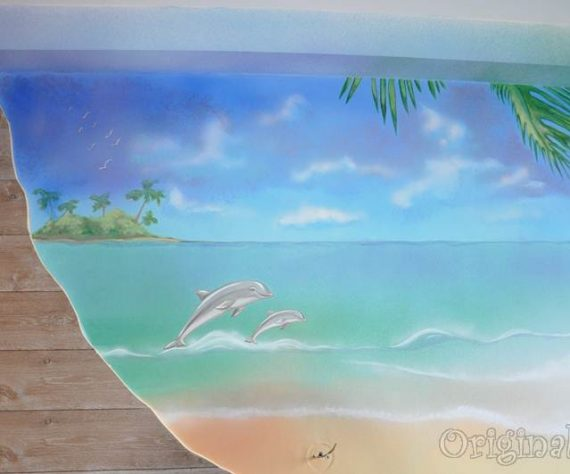 1402421643camera-bucuresti-pictura-murala-peisaj-exotic