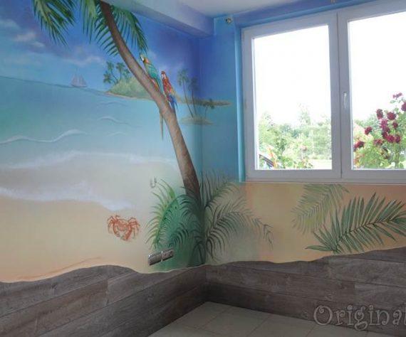 1402421651camera-bucuresti-pictura-murala-peisaj-exotic