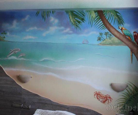 1402421662camera-bucuresti-pictura-murala-peisaj-exotic