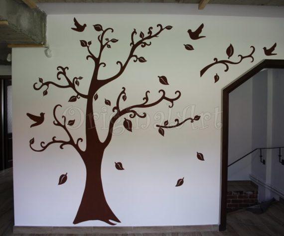pictura copaci si flori decorative1