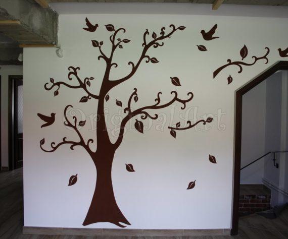 pictura copaci si flori decorative2