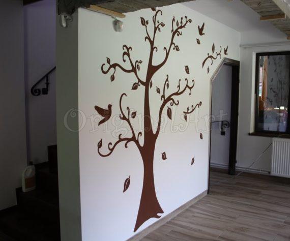 pictura copaci si flori decorative3