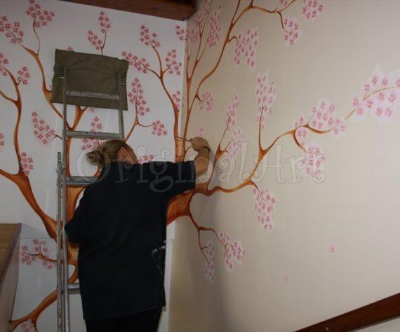 pictura copaci si flori decorative4