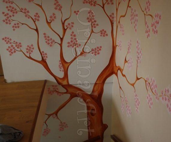 pictura copaci si flori decorative5
