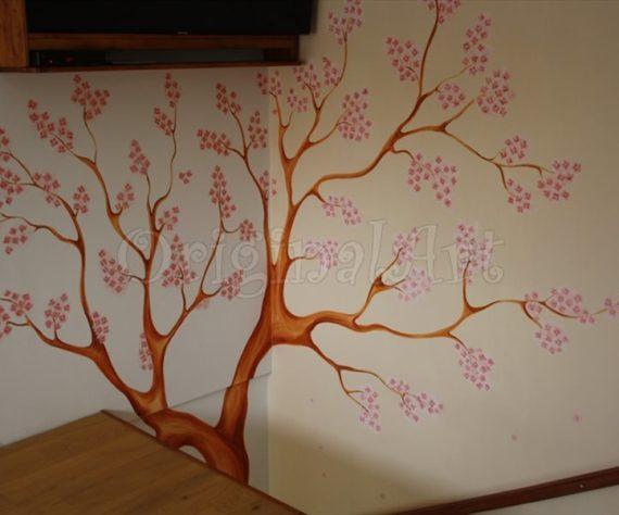 pictura copaci si flori decorative6