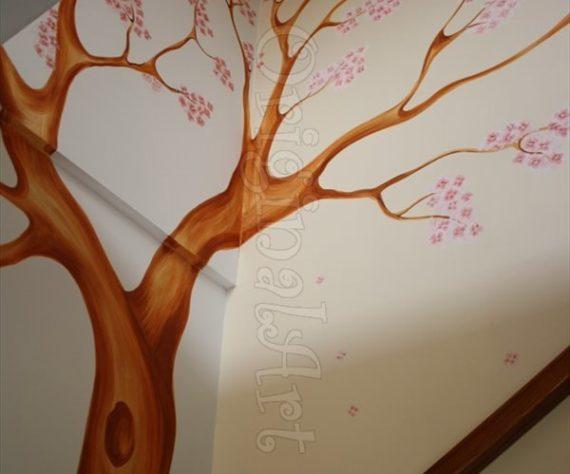 pictura copaci si flori decorative7