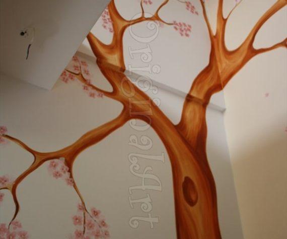 pictura copaci si flori decorative8