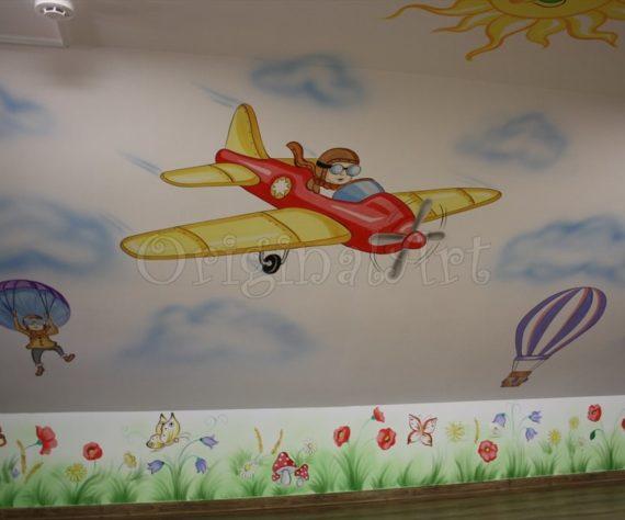 pictura spatii de joaca cu avioane679